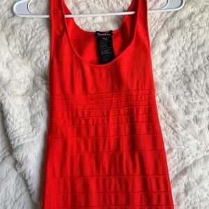 Red Bebe bodycon mini dress